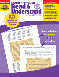 Spanish/English Read and Understand: Nonfiction, Grades 4-6+ - Teacher Reproducibles, E-book