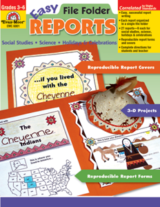Easy File Folder Reports, Grades 3-6 - Teacher Reproducibles, E-book