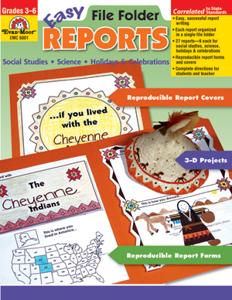 Easy File Folder Reports, Grades 3-6 - Teacher Reproducibles, E-book