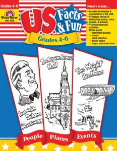 U.S. Facts & Fun, Grades 4-6 - Teacher Reproducibles, E-book