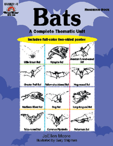 Complete Thematic Units, Bats - Teacher Reproducibles, E-book