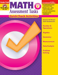Math Assessment Tasks, Grade PreK - Teacher Resource, E-book