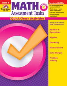 Math Assessment Tasks, Grade K - Teacher Resource, E-book