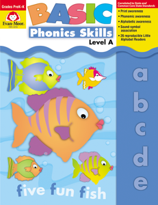 Basic Phonics Skills, Grades PreK-K (Level A)- Teacher Reproducibles, E-book