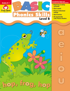 Basic Phonics Skills, Grades K-1 (Level B) - Teacher Reproducibles, E-book