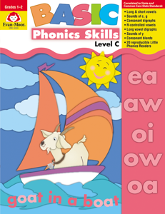 Basic Phonics Skills, Grades 1-2 (Level C)- Teacher Reproducibles, E-book