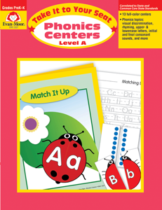 Take It to Your Seat: Phonics Centers, Grades PreK-K (Level A)- Teacher Resource, E-book