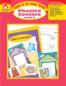 Take It to Your Seat: Phonics Centers, Grades 1-2 (Level C)- Teacher Resource, E-book