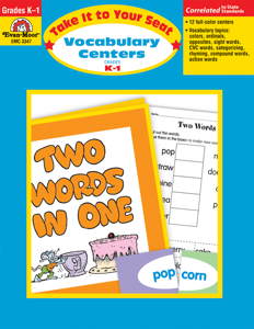 Take It To Your Seat: Vocabulary Centers, Grades K-1 - E-book