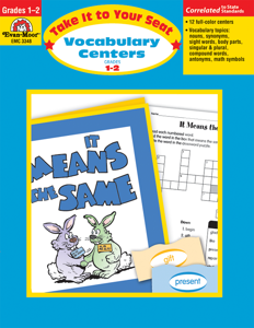 Take It To Your Seat: Vocabulary Centers, Grades 1-2- Teacher Resource, E-book