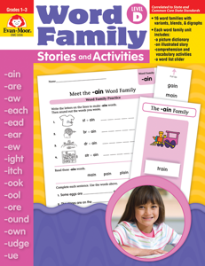 Word Family Stories and Activities, Grades 1-3 (Level D)- Teacher Reproducibles, E-book