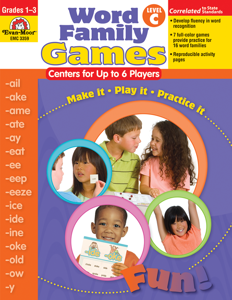Word Family Games: Centers for Up to 6 Players, Grades 1-3 (Level C)- Teacher Resource, E-book