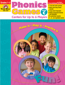 Phonics Games: Centers for up to 6 Players, Grades 1-2 (Level C)- Teacher Resource, E-book