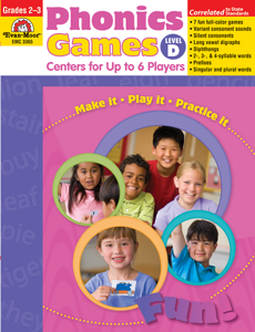 Phonics Games: Centers for up to 6 Players, Grades 2-3 (Level D)- Teacher Resource, E-book