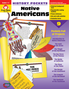 History Pockets: Native Americans, Grades 1-3 - Teacher Reproducibles, E-book