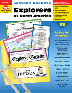 History Pockets: Explorers of North America, Grades 4-6 - Teacher Reproducibles, E-book