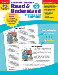Spanish/English Read and Understand, Grade 2 - Teacher Reproducibles, E-book
