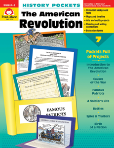 History Pockets: The American Revolution, Grades 4-6 - Teacher Reproducibles, E-book