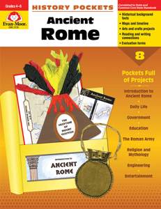 History Pockets: Ancient Rome, Grades 4-6 - Teacher Reproducibles, E-book