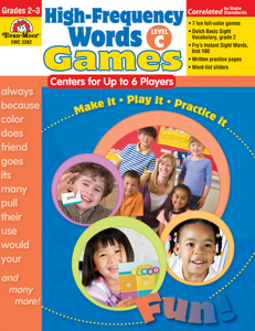 High-Frequency Words: Center Games, Grades 2-3 (Level C)- Teacher Resource, E-book