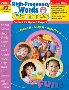High-Frequency Words: Center Games, Grades 2-3 (Level D)- Teacher Resource, E-book