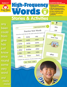 High-Frequency Words: Stories & Activities, Grades K-1 (Level B)- Teacher Resource, E-book