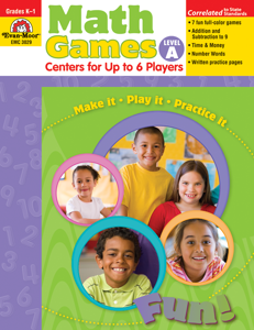 Math Games: Centers for Up to 6 Players, Grades K-1 (Level A)- Teacher Resource, E-book
