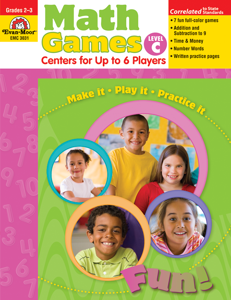 Math Games: Centers for Up to 6 Players, Grades 2-3 (Level C)- Teacher Resource, E-book