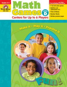 Math Games: Centers for Up to 6 Players, Grades 3-4 (Level D)- Teacher Resource, E-book