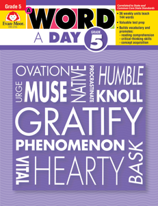 A Word a Day, Grade 5 - Teacher's Edition, E-book