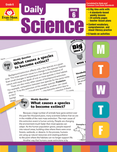 Daily Science, Grade 6 - Teacher's Edition, E-book