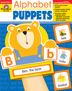 Alphabet Puppets, Grades PreK - 1 - Teacher Reproducibles, E-book