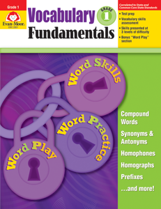 Vocabulary Fundamentals, Grade 1 - Teacher Reproducibles, E-book