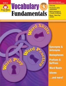 Vocabulary Fundamentals, Grade 5 - Teacher Reproducibles, E-book
