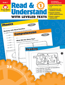 Read and Understand with Leveled Texts, Grade 1 - Teacher Reproducibles, E-book