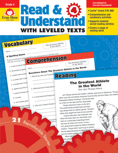 Read and Understand with Leveled Texts, Grade 4 - Teacher Reproducibles, E-book