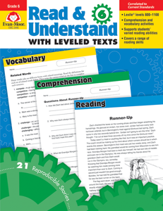 Read and Understand with Leveled Texts, Grade 6 - Teacher Reproducibles, E-book