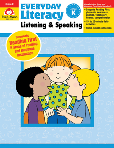 Everyday Literacy: Listening and Speaking, Grade K - Teacher's Edition, E-book
