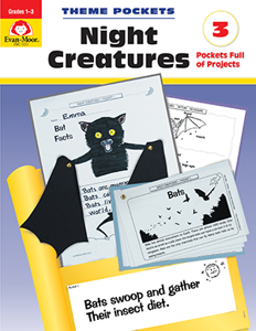 Theme Pockets: Night Creatures, Grades 1-3 - Teacher Reproducibles, E-book