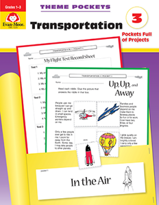 Theme Pockets: Transportation, Grades 1-3 - Teacher Reproducibles, E-book