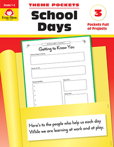 Theme Pockets: School Days, Grades 1-3 - Teacher Reproducibles, E-book