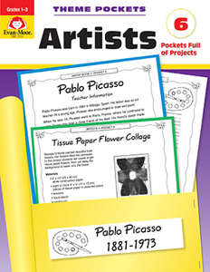 Theme Pockets: Artists, Grades 1-3 - Teacher Reproducibles, E-book