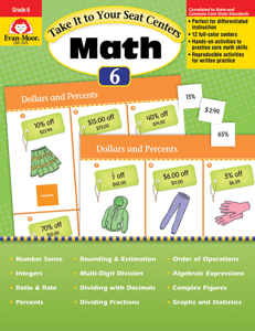 Take It to Your Seat: Math Centers, Grade 6 - Teacher Reproducibles, E-book
