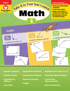 Take It to Your Seat: Math Centers, Grade 4 - Teacher Resource, E-book