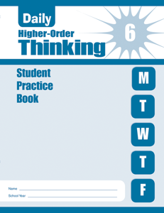 Daily Higher-Order Thinking, Grade 6 - Student Workbook (5-pack)