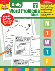 Daily Word Problems, Grade 4 - Teacher's Edition, Print