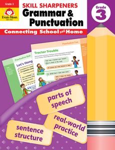 Skill Sharpeners: Grammar & Punctuation, Grade 3 - Activity Book