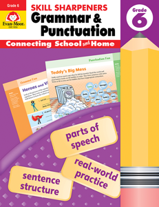 Skill Sharpeners: Grammar & Punctuation, Grade 6 - Activity Book