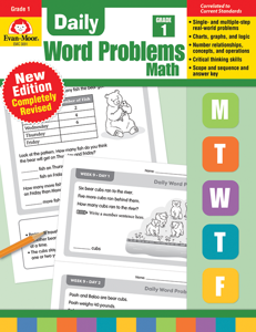 Daily Word Problems, Grade 1 - Teacher's Edition, E-book