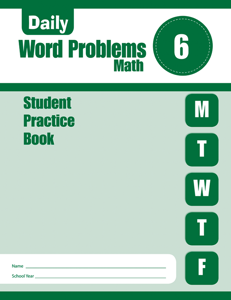 Daily Word Problems, Grade 6 - Student Workbook